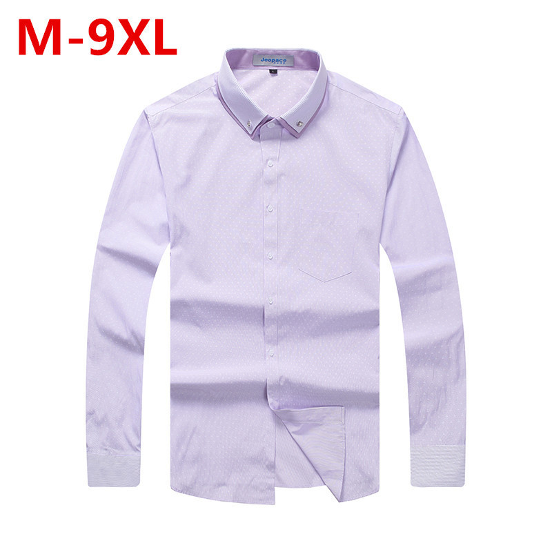Plus Size 9XL 8XL 7XL 6XL 5XL Brand Casual Men Shirt Slim Fit Men Plaid Shirt Long Sleeve Cotton Mens Dress Shirts Chemise Homme