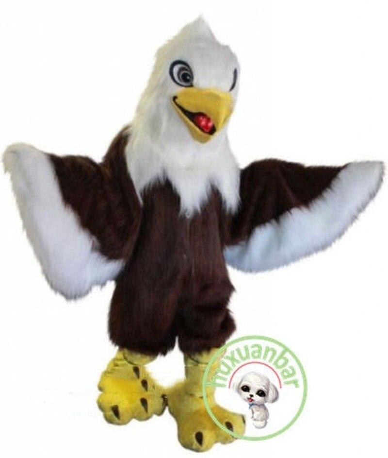 Fête d'halloween en plein air longue fourrure aigle mascotte Costume costumes adultes Cosplay partie jeu fantaisie robe Chic