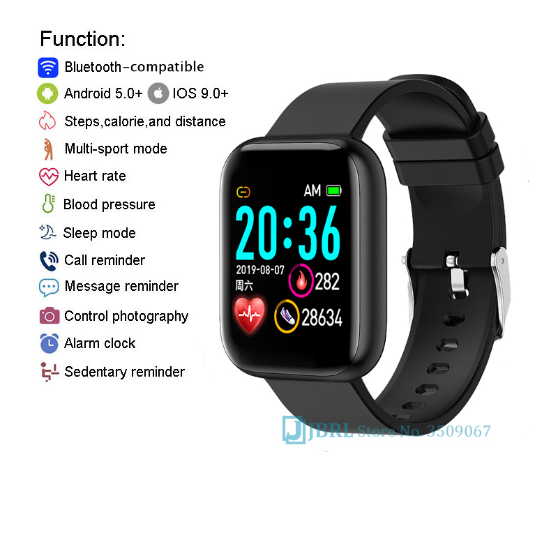 H309fe8dfbf4d48caa994ad8d2e1d71dbi 2021 Ladies Sport Bracelet Smart Watch Women Smartwatch Men Smartband Android IOS Waterproof Fitness Tracker Smart Clock Mens
