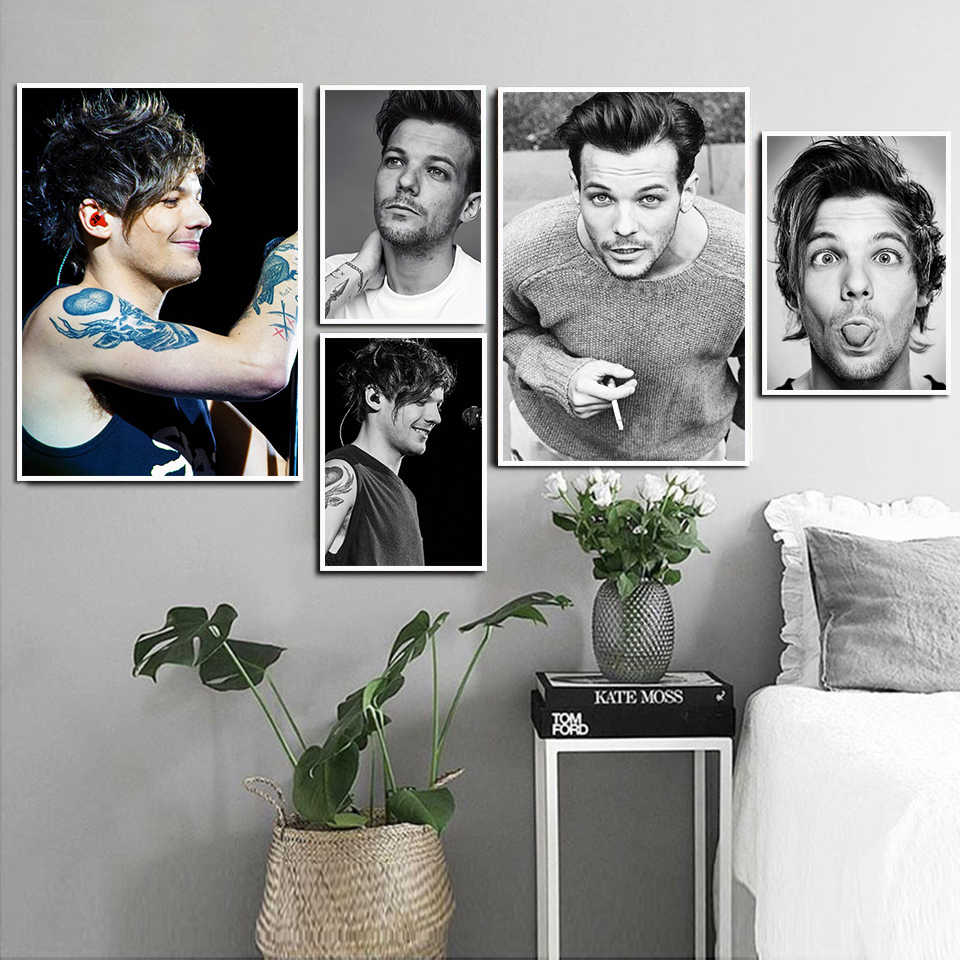 Britse Zanger Louis Tomlinson Poster Portret Hd Posters Wall Art Painting Prints Moderne Home Room Bar Decor