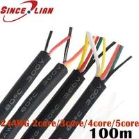Wire Wire 24 awg Strand Wire 2 3 4 5 core Wire multi core Copper Wire Signal Control Cable USB Data Cable 100Meters DHL