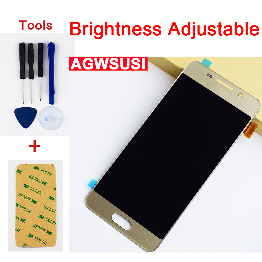 For Adjustable <font><b>Samsung</b></font> Galaxy A3 2016 A310 SM- <font><b>A310F</b></font> A310M A310Y Touch Screen Glass + <font><b>LCD</b></font> Display Monitor Panel Assembly image