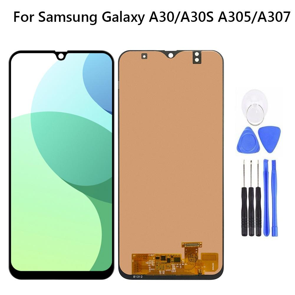 Replacement <font><b>LCD</b></font> Touch <font><b>Screen</b></font> Digitizer for <font><b>Samsung</b></font> Galaxy <font><b>A30</b></font>/A30S A305/A307 Replacement Phone Accessories Durable New image