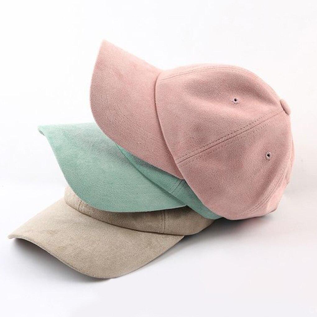 Unisex Adjustable Baseball Cap Men Women Snapback Hat Hip-Hop Pink Black Candy Color Cap Outdoor Climbing Fashion Baseball Cap