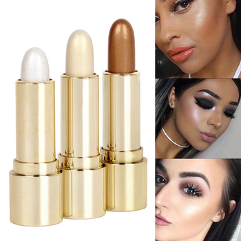 3D High-Light Embellish Contour Highlighter Pencil Brighten Skin Pro Face Highlighter Stick Concealer Contouring Bronzers Stick