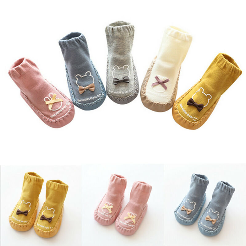 Kids Baby Newborn Cartoon Socks Anti-slip Shoes Floor Sock Boots Slipper Socks