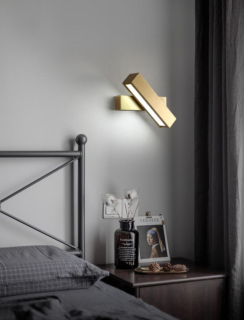 Nórdico moderno lâmpada de parede cobre para