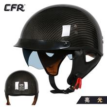 CFR carbon fiber retro motorrad helm männer und frauen mopeds halb helme und glas faser verstärkte kunststoff scoop helme