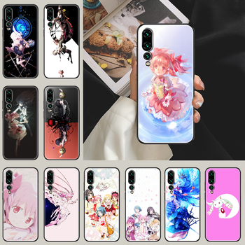 puella magi madoka magica Phone case For Huawei P Mate P10 P20 P30 P40 10 20 Smart Z Pro Lite 2019 black painting Etui pretty image
