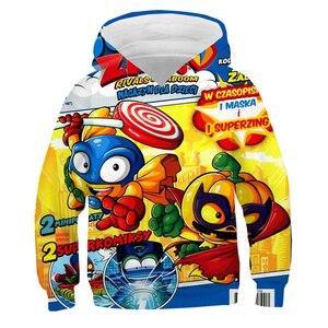Super Zings 3d Hoodies Children boys girls coat Long Sleeve Pullover kids Cartoon Superzings Sweatshirt Spring Winter Streetwear