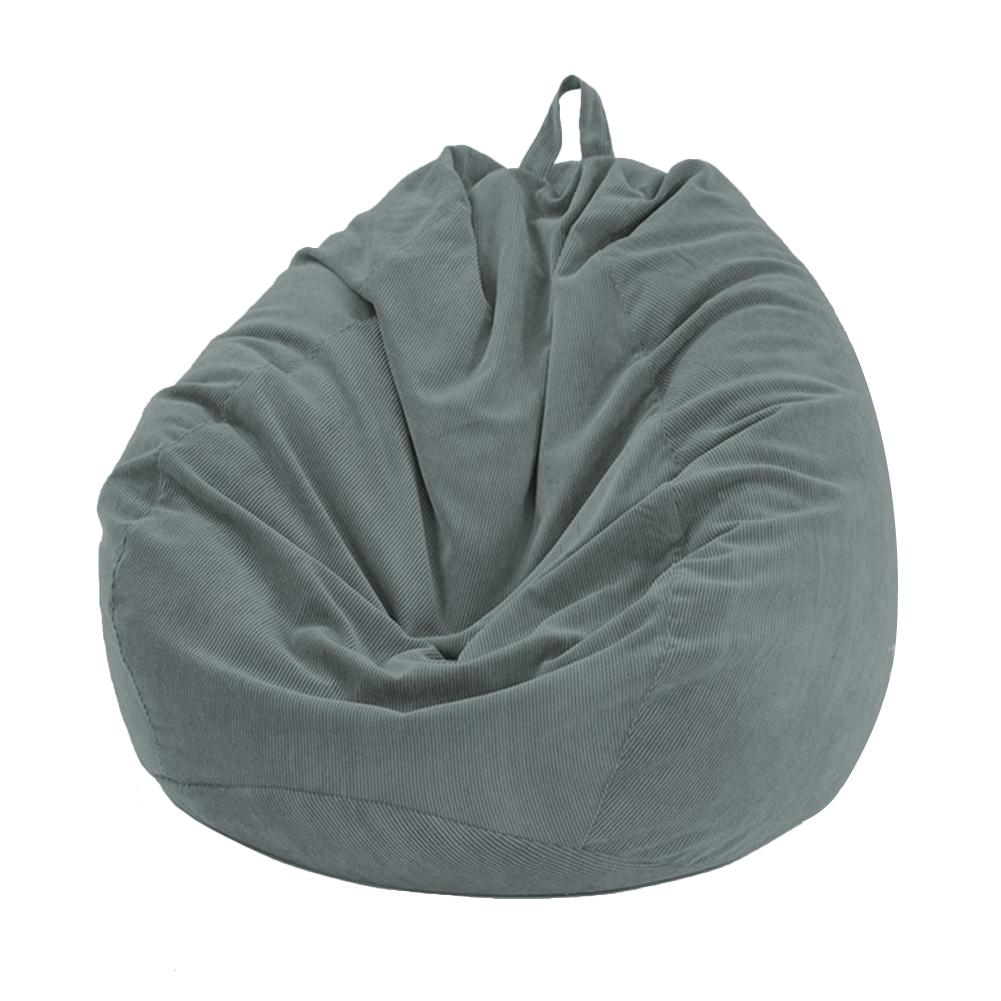 Lazy BeanBag Sofas Cover Chairs without Filler Soft Removable Corduroy Lounger Seat Bean Bag Pouf Puff Couch Tatami Living Room 4