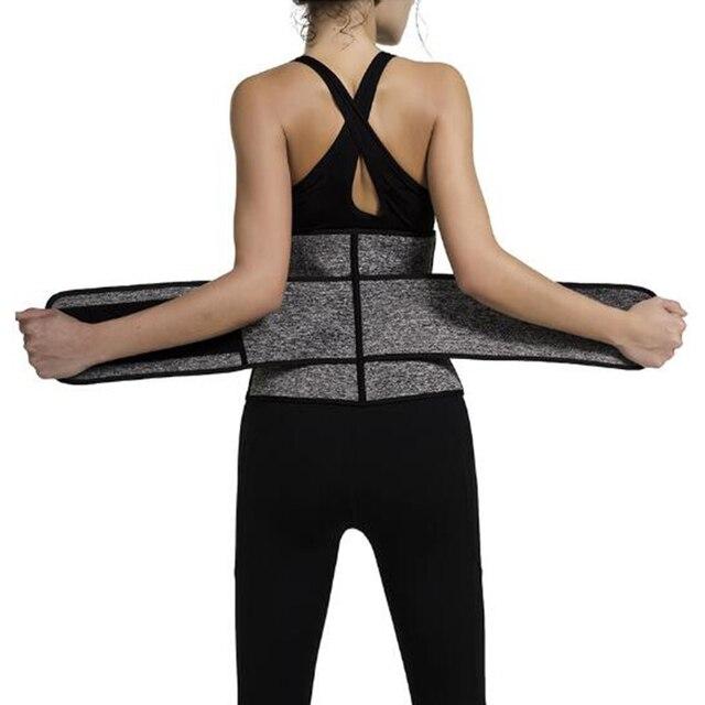 Waist Trainer Cincher Trimmer Sweat Belt Men Women Shapewear with Double Strap 4