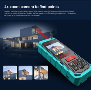 """Image 5 - Mileseey P7 80M Bluetooth Laser Rangefinder with Rotary Touch Screen Rechargerable Laser Meter  2.0"""" LCD Handheld"""
