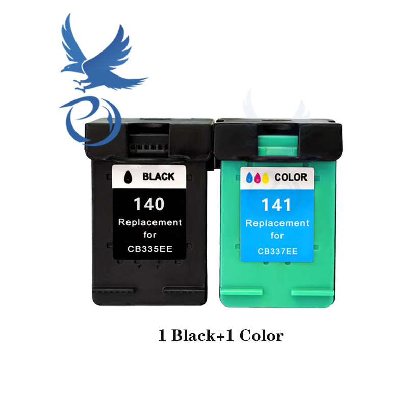 Compatible 140 141 XL Ink Cartridge Replacement for HP 140 141 Photosmart C4283 C4583 C4483 C5283 D5363 D4263 Printer-2 Black//2 Color