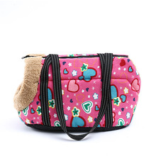 Portable Pet Bag Small Dog Outdoor Travel Durable Printed Shoulder Puppies Transport Supplies Three Colors