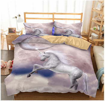 BEST.WENSD 3D Printed Unicorn Bedding Set Duvet Cover Pillowcase Home Textile Adult Children Gift Queen King Size Bedding Set