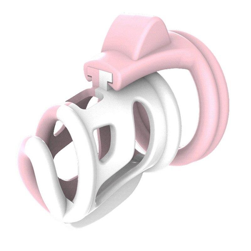 2019 New Fashion Color Vent Hole Design Male Chastity Device La Color B
