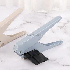 Image 3 - Perforadora de papel tipo T con agujero De Seta para oficina, hoja suelta, bricolaje, suministros escolares, perforadora de álbumes de recortes, envío directo
