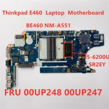 Laptop Motherboard For Lenovo Thinkpad E460 i5 6200U Laptop integrated graphics card Main Board FRU 00UP248 00UP247