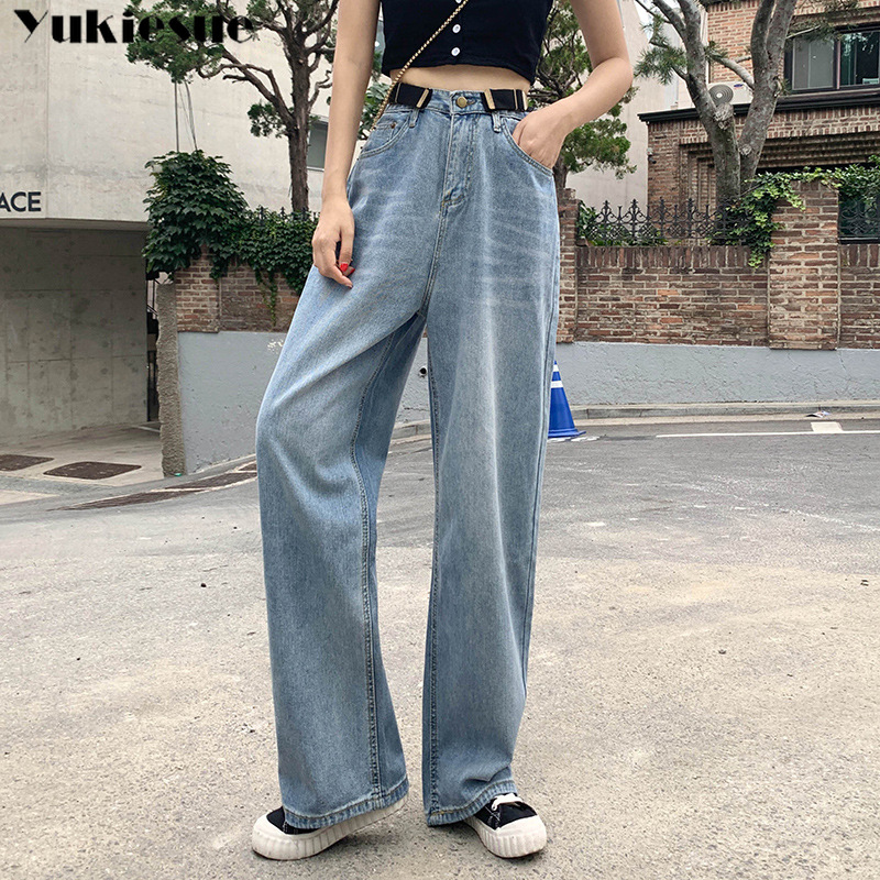 High Waisted Jeans Woman Fashionable Woman's Jeans For Women Ripped Jeans Woman Boyfriend Wide Leg Jeans Women's Plus Size