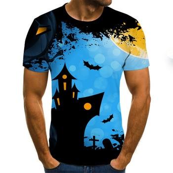2020 New Summer 3D printed men's T-shirt casual   4