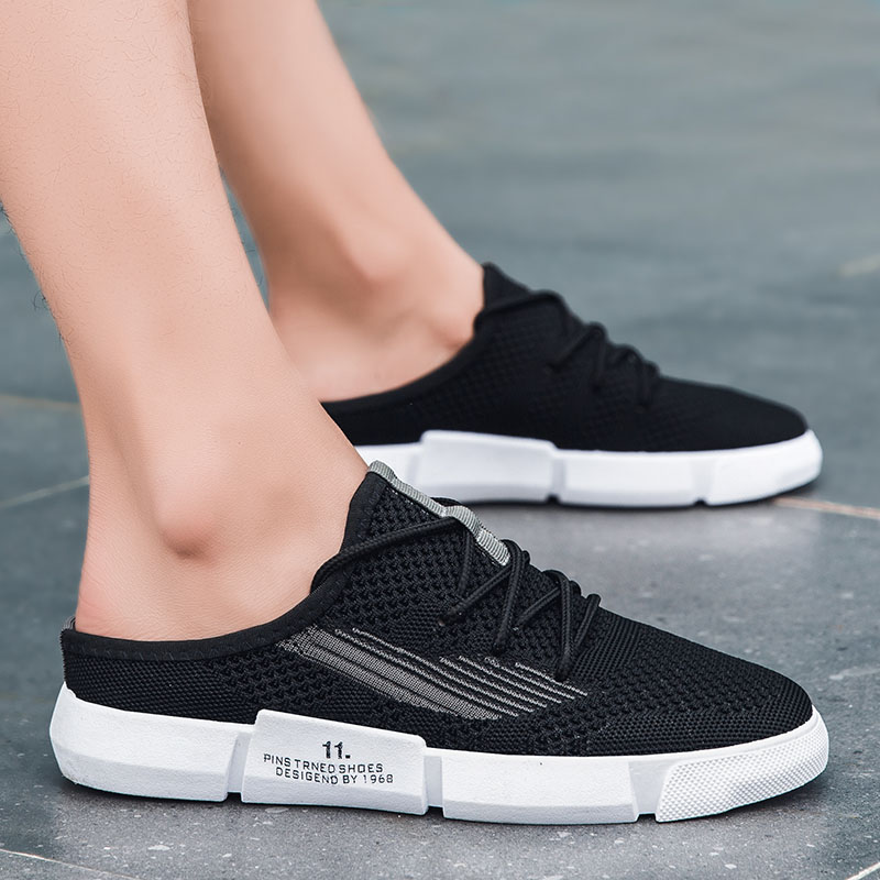 Summer Mesh Flats Casual Shoes Men Fashion 2020 New Lightweight Breathable Man Black Sneakers Zapatillas Para Hombre Chaussures