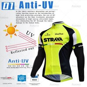 Image 2 - STRAVA Cycling Jersey Set 2021 Spring Pro Bicycle Team Long Sleeve Bicycle Clothes Premium MTB Mountain Bike Bib Sportswear Suit