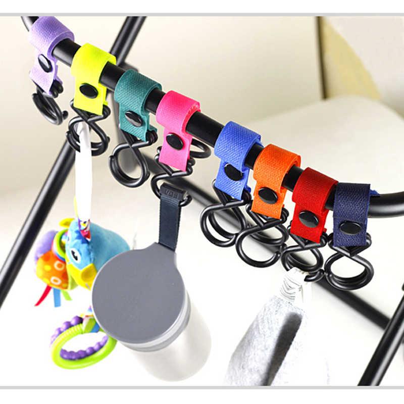 1 sztuk kolorowe wielofunkcyjny dziecko uchwyt do torby na wózek akcesoria wózek dziecięcy hak na wózek torba na wózek wiszące uchwyt na kubek hak