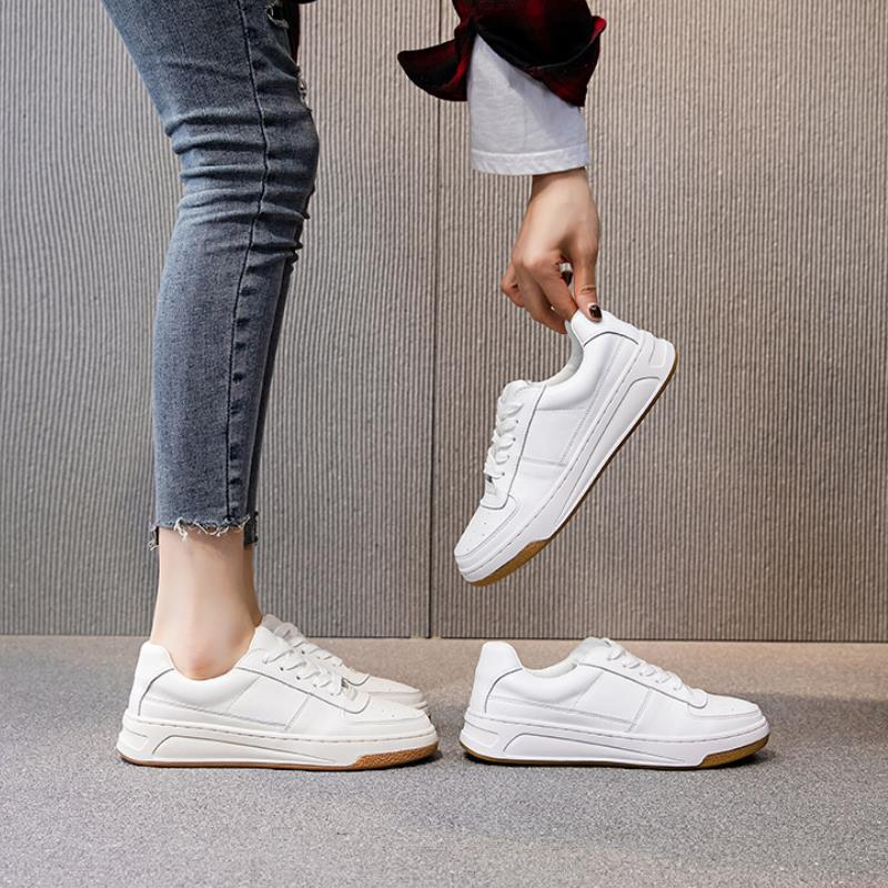RIZABINA 2021 Ins Women Sneakers Real Leather Fashion Flats Shoes Woman Cross Strap Casual Daily Spring Lady Footwear Size 35-40