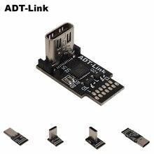 ADT USB 3.1 Kết Nối Loại C 13 Pin 20 Nữ Ổ Cắm Tiếp Nhận Thông Qua Lỗ PCB 180 Dọc Lá Chắn USB C tốc Độ 10Gbps & 20Gbps