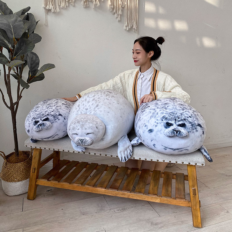 Giant Japanese seal pillow doll plush toy doll seal birthday gift child pillow comfort sleep pillow Easter gift girlfriend gift image