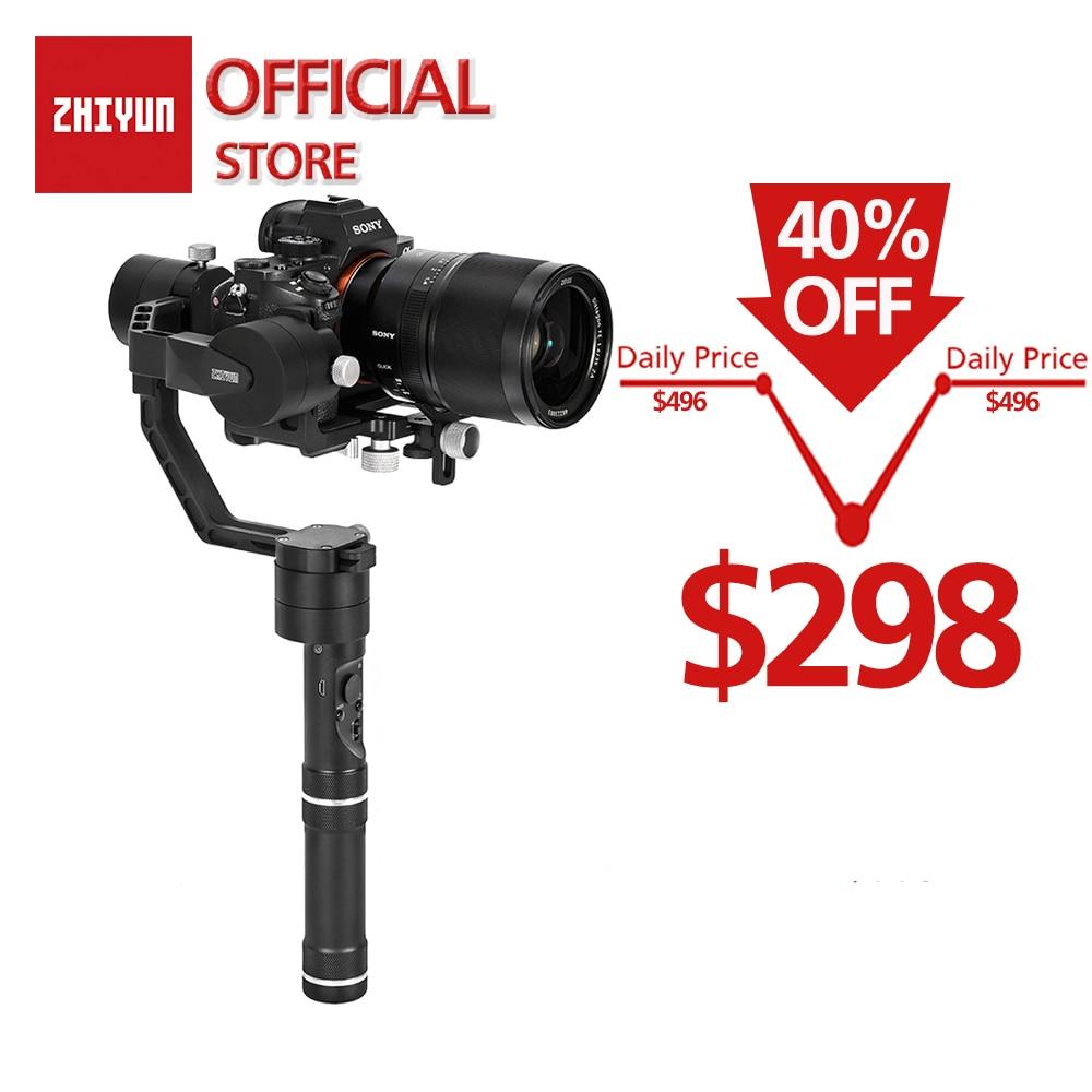 ZHIYUN Oficial Kit Guindaste V2 3-Eixo Cardan Handheld Estabilizador para DSLR Camera Sony/Panasonic/Nikon/ canon Inclui Tripé