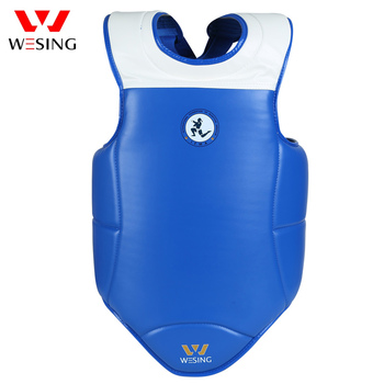 Wesing Muay Thai IFMA Approved Chest Guard Sanda Boxing Taekwondo Body Shield Micro Fiber Leather Chest Protector Men and Female