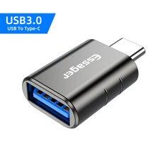 Essager usb tipo c otg adaptador usb 3.0 para usb c conversor masculino para samsung s20 xiaomi mi 9 10 USB-C conector fêmea tslm1