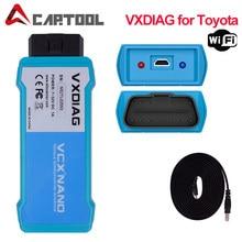 Obd2 vxdiag nano para o software de toyota it3 tis v14 techstream v15 wifi scanner diagnóstico para lexus obd2 carro ferramenta de diagnóstico