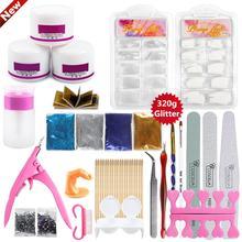 COSCELIA Acrylic Nail Kit 320g Glitter Manicure Set Tools For Orange Sticks Art Sets