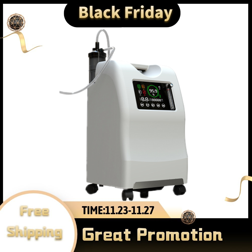 CE Approve High Quality Low Noise Oxygen Concentrator Big LCD Display 10L Large Flow