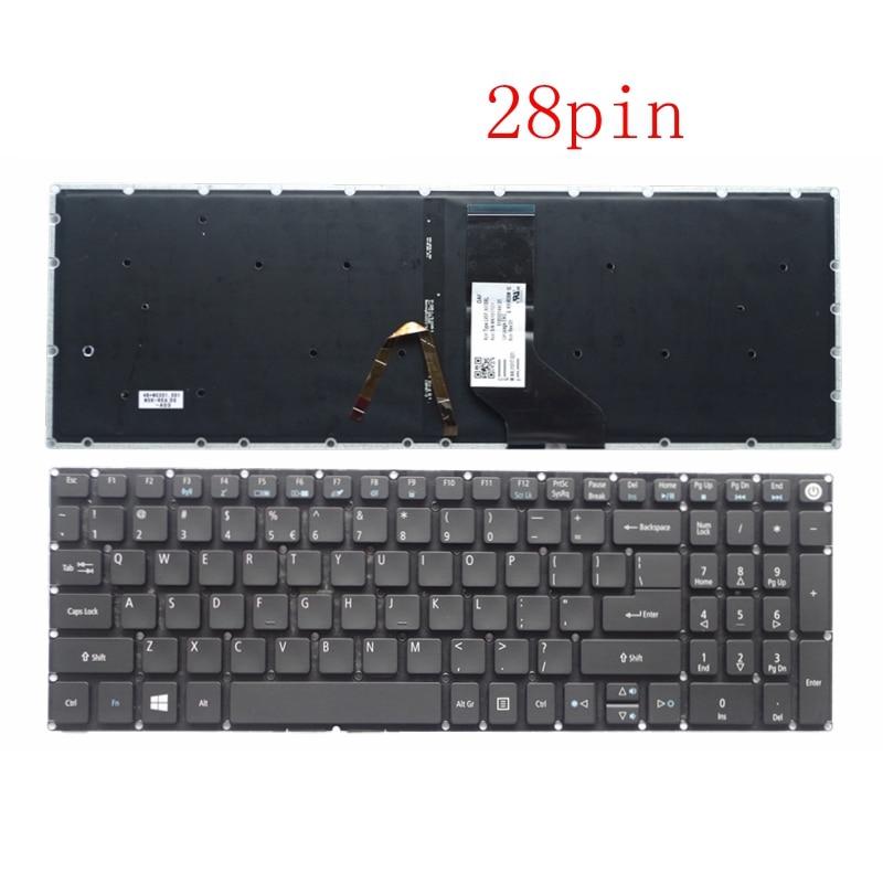 New For Acer Aspire 5 A515-51 A515-51G A517 A517-51-5832 A517-51G A517-51G-52LB Keyboard English US Backlit Backlight 28 Pin