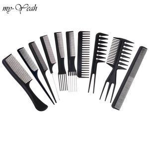 Image 1 - 10 סגנונות סבך Detangling קומבס מברשת בארבר שיער חיתוך שיער מברשות אנטי סטטי פרו סלון טיפוח שיער סטיילינג כלים