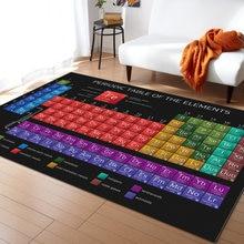Tableau périodique des éléments chimie tapis pour salon chambre zone tapis enfants chambre tapis de jeu 3D imprimé maison grand tapis