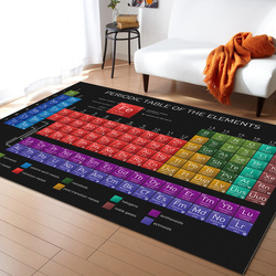 Periodic Table Of Elements Chemistry Carpets for Living Room Bedroom Area Rug Kids Room Play Mat 3D Printed Home Large Carpet