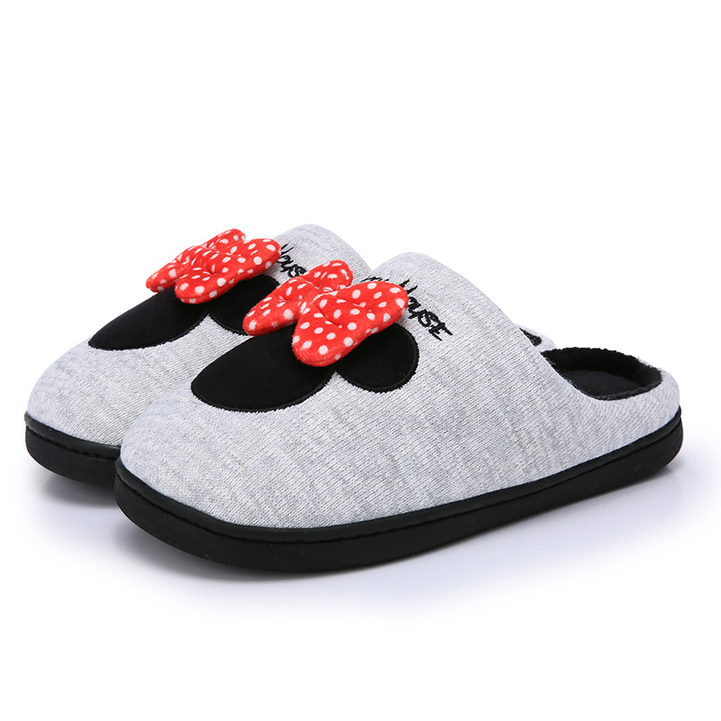 2019 Children 39 s Cotton Slippers New Cartoon Slip proof Fleece proof and Heating Home Cotton Slippers Girls Slippers in Slippers from Mother amp Kids