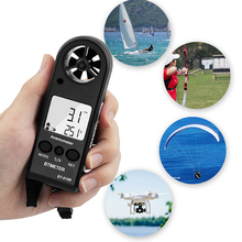 BEMETER BT-816B Handheld LCD Digital Wind Speed Meter Portable Anemometer Sensor Wind Speed Meter Air Flow Tester HVAC CFM tenmars tm 401 handheld digital multifunctional anemometer air velocity meter