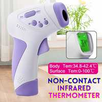 Baby Thermometer Infrared Digital LCD Body Temperature Measurement Forehead Ear Non Contact Adult Body Fever IR Thermometer Guns