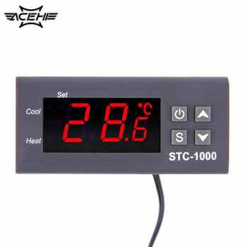 цена на New High Quality Temperature Controller Thermostat Aquarium STC1000 Incubator Cold Chain Temp Mini-Temperature Controller