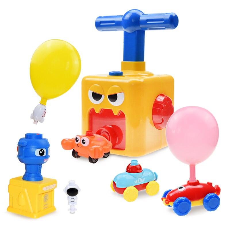 Новый Воздушный шар пусковая башня игрушка пазл забавная образовательная инерция воздушный шар автомобиль научные эксперименты игрушки д...