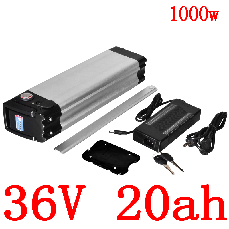 36V 500W 1000W Electric Bike Battery 36V 8AH 9AH 10AH 11AH 12AH 13AH 14AH 15AH 18AH 20AH Lithium Battery with 30A BMS+2A charger image