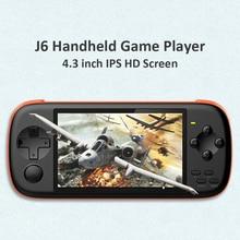 وحدة تحكم ألعاب محمولة باليد من Powkiddy طراز J6 للكبار مشغل ألعاب صغير محمول باليد مشغل MP5 مدمج 2000 ألعاب بطاقة TF سعة 16 جيجابايت