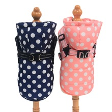 Pet Harness Clothes Winter Skiing Jacket Coat Puppy Outdoor Walking Adjustable Chest Strap Dog Cloth Vest Chihuahua Bulldog
