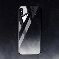 silicone case Tempered Glass Case For apple iphone XS MAX XR X XS glass Cases Space Silicone Covers for Iphone 6 6s 7 8 plus back cover (4)
